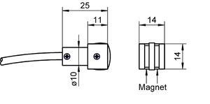 Dotykové teplotní čidlo magnetické FTA025P