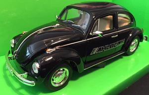 Welly 1:24 Volkswagen Beetle (black) s logem AHLBORN - 1