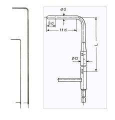 Prandtlova (Pitotova) trubice FD991288MS - 2