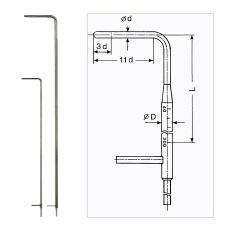 Prandtlova (Pitotova) trubice - AHLBORN FD991284MS - 2