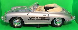 Welly 1:24 Porsche 356B (silver) s logem AHLBORN - 2