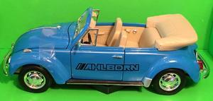 Welly 1:24 VW Beetle old Convertible (blue) s logem AHLBORN - 2