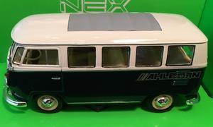 Welly 1:24 VW 1962 Classical Bus (dark green) s logem AHLBORN - 2