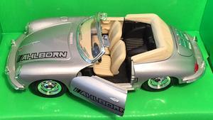 Welly 1:24 Porsche 356B (silver) s logem AHLBORN - 3